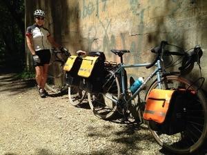 Sarah Putman biking following hip arthroscopy surgery with Dr. Wolff.